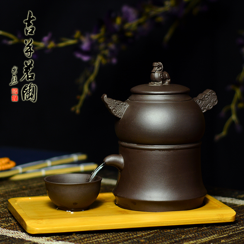 Ram ming tao yixing teapot purple clay cup famous handmade manual and automatic water soak the entire tea teapot