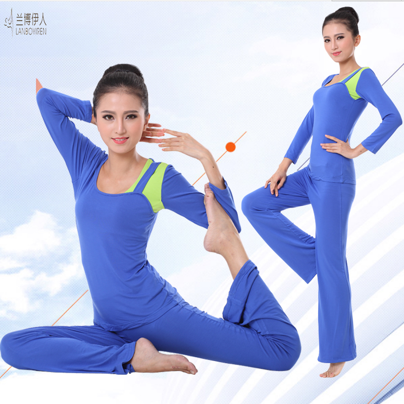 Rambo summer female yoga clothes suit dance clothes short sleeve/long sleeve clothes and even more clothing workout clothes female 2016