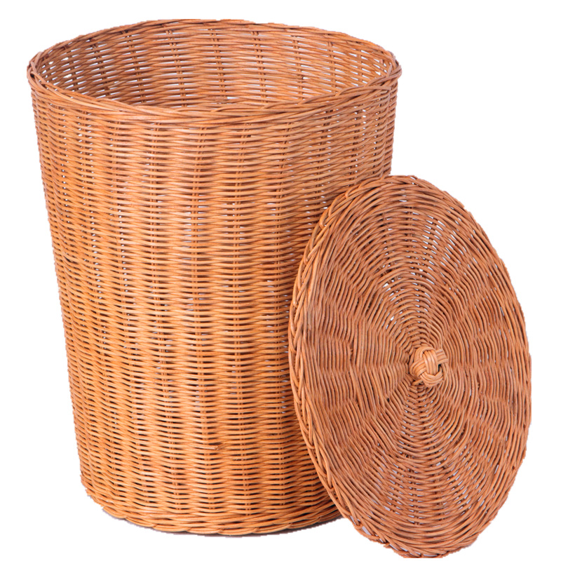 Rattan storage basket of dirty clothes storage baskets laundry baskets pastoral simplicity household storage barrel debris basket weaving rattan baskets