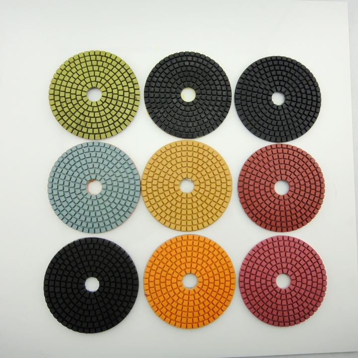 Reais fine grinding mill piece 100mm diamond polishing pad 4 inch thick marble grinding stone polished piece
