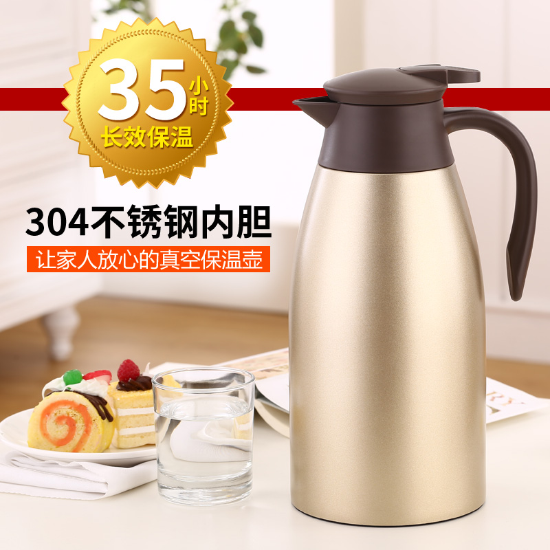 Real melting 304 stainless steel european home insulation pot thermos insulation kettle of boiling water bottle double warm pot