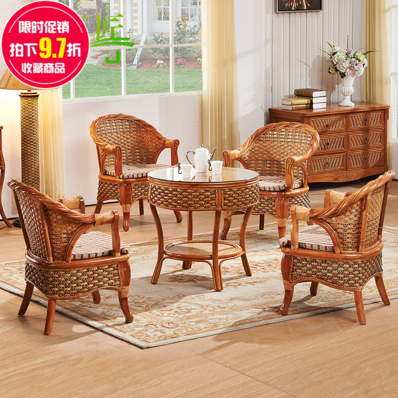 Real rattan chairs coffee table chairs wicker chairs coffee table wujiantao natural indonesian rattan chair rattan chair rattan lounge chair rattan chair