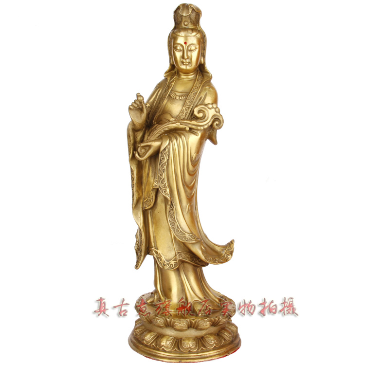 Really ancient italian opening of pure copper copper wishful guanyin buddha guanyin station like ornaments luck boutique