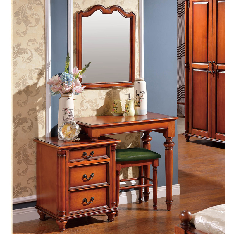 Reca round end villa all solid wood american dresser/dressing table table 1.2 miou