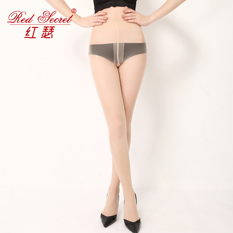 Red arbitrary cut imports of ecthelion anti-8d stockings female summer thin section was thin pantyhose anti hook wire flesh invisible Socks