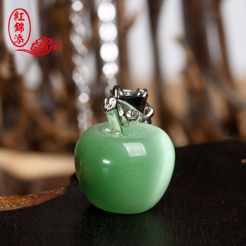 Red jintian opal pendant apple christmas eve gift ideas to send his girlfriend a gift peace fruit