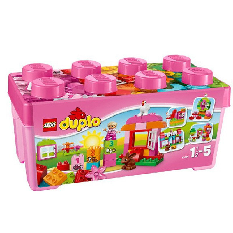 [Red kids baby] lego lego depot 10571 more than one pink bucket fun toys for children
