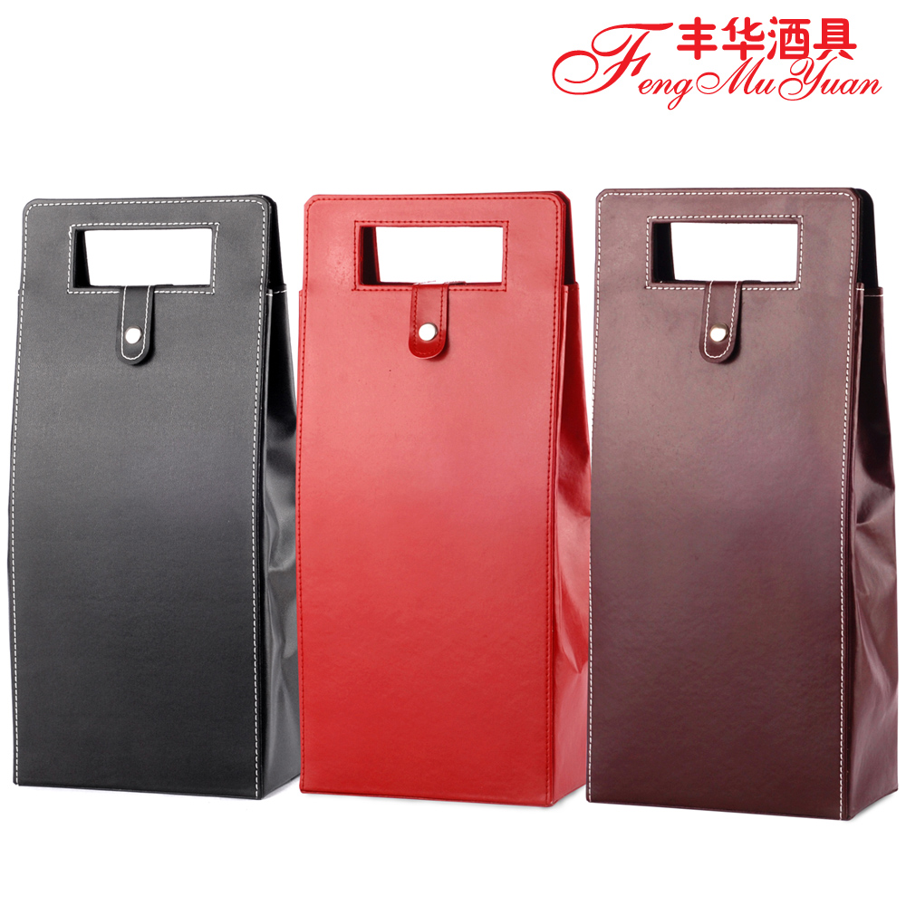Red wine double vessel wine wine wine wine gift box wine packaging double vessel leather box packing box