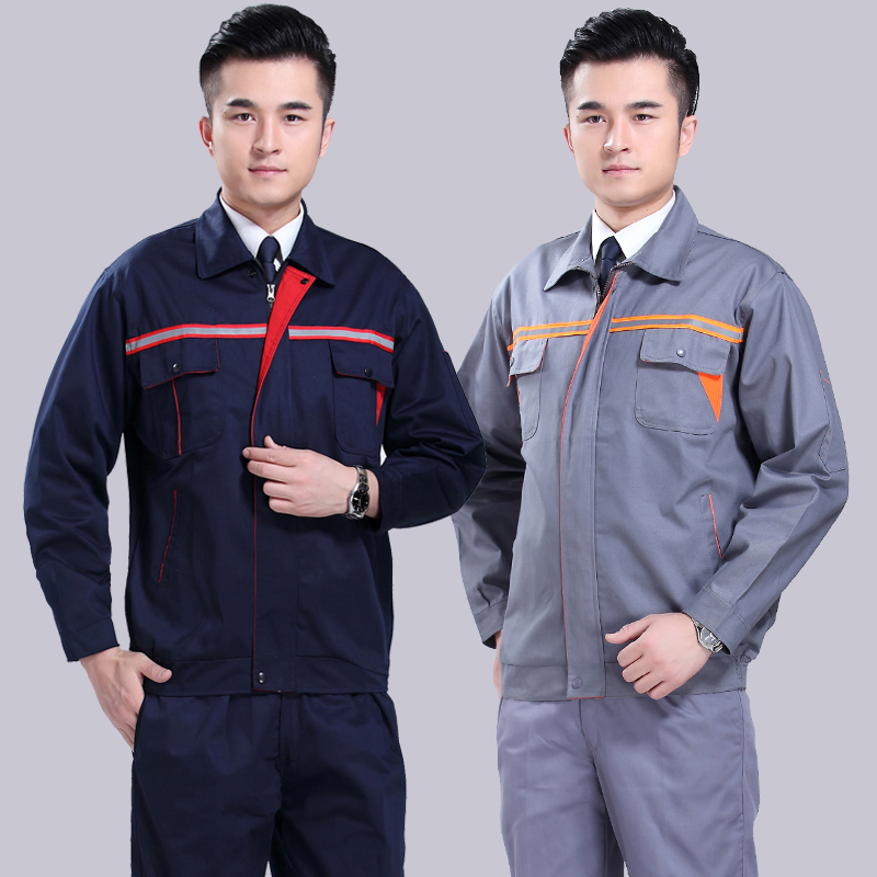 Reflective clothing overalls sleeved overalls overalls suit male factory floor protective clothing work clothes work clothes suit