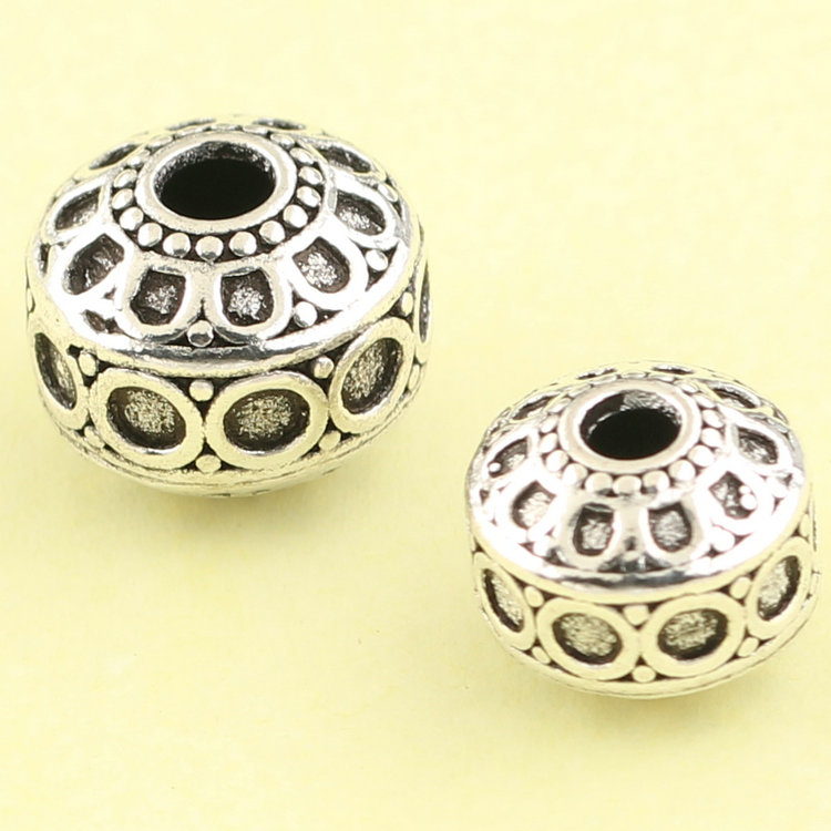 Regards s925 silver jewelry accessories diy thai silver bracelets nepal handmade silver spacer beads spacer beads loose beads