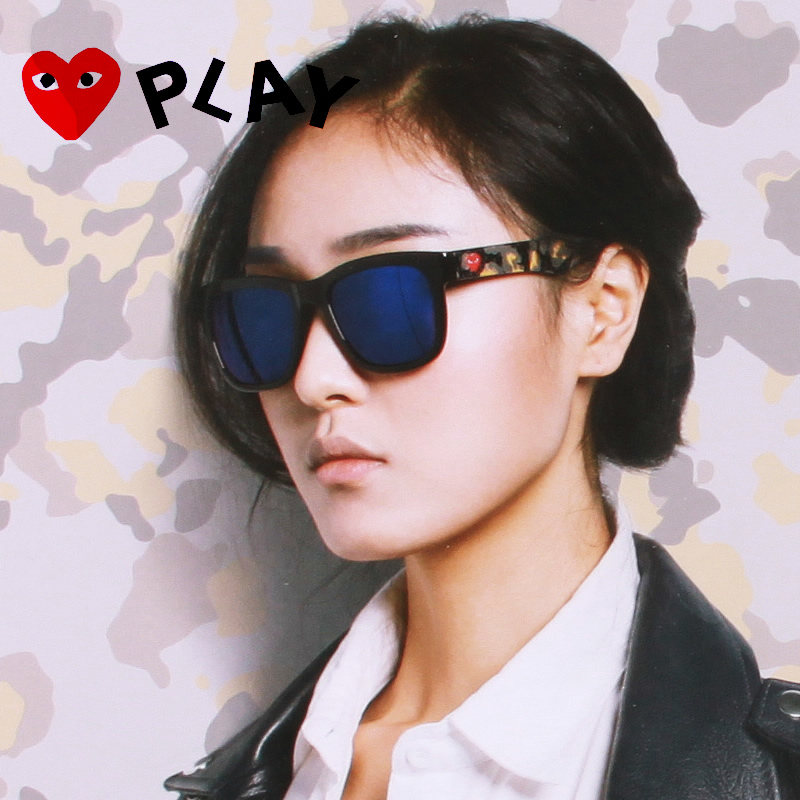 242102d6ce9 Get Quotations · Rei kawakubo ms. sunglasses oversized black box color film  star models sunglasses driving sunglasses for
