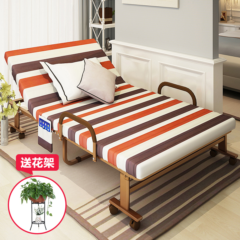 Reinforced folding bed linen person office lunch nap bed twin bed folding bed nursing home bed bed bed simple paternity