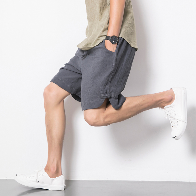 8c88e1e958 Get Quotations · Reliance foncalieu japanese cotton men's beach pants five  pants trend shorts vintage linen pants casual pants