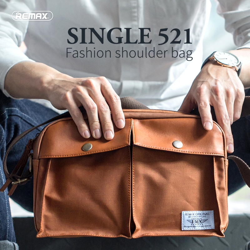 Remax 521 diagonal shoulder messenger bag fashion casual shoulder bag backpack bag high quality canvas bag