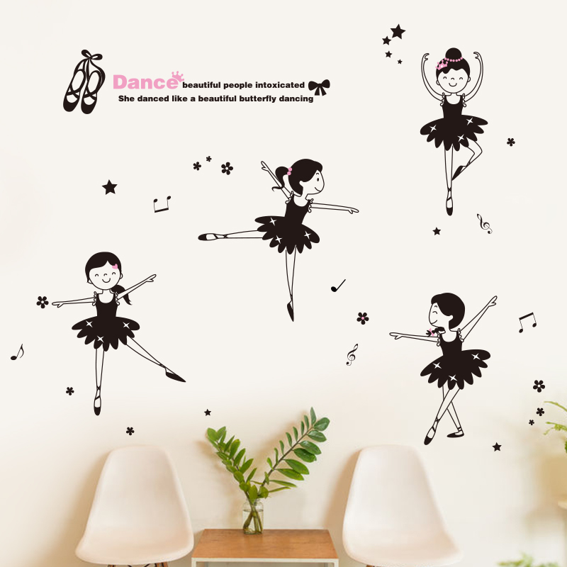 Buy Klimts Dance School Classroom Wall Stickers Childrens Room Wall