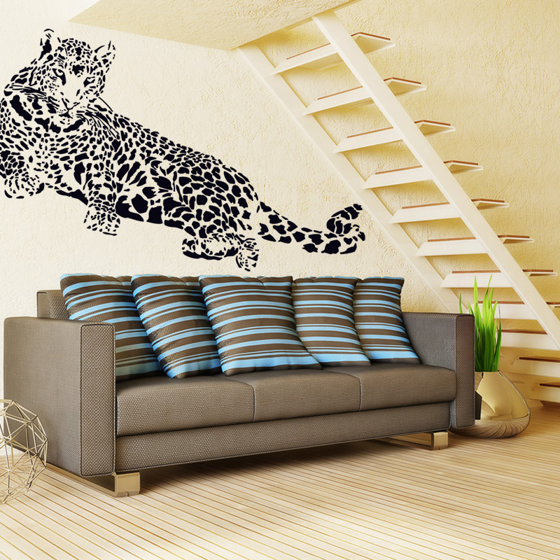 Removable waterproof wall stickers bedroom living room tv backdrop wall stickers room decor wall stickers stickers wallpaper leopard