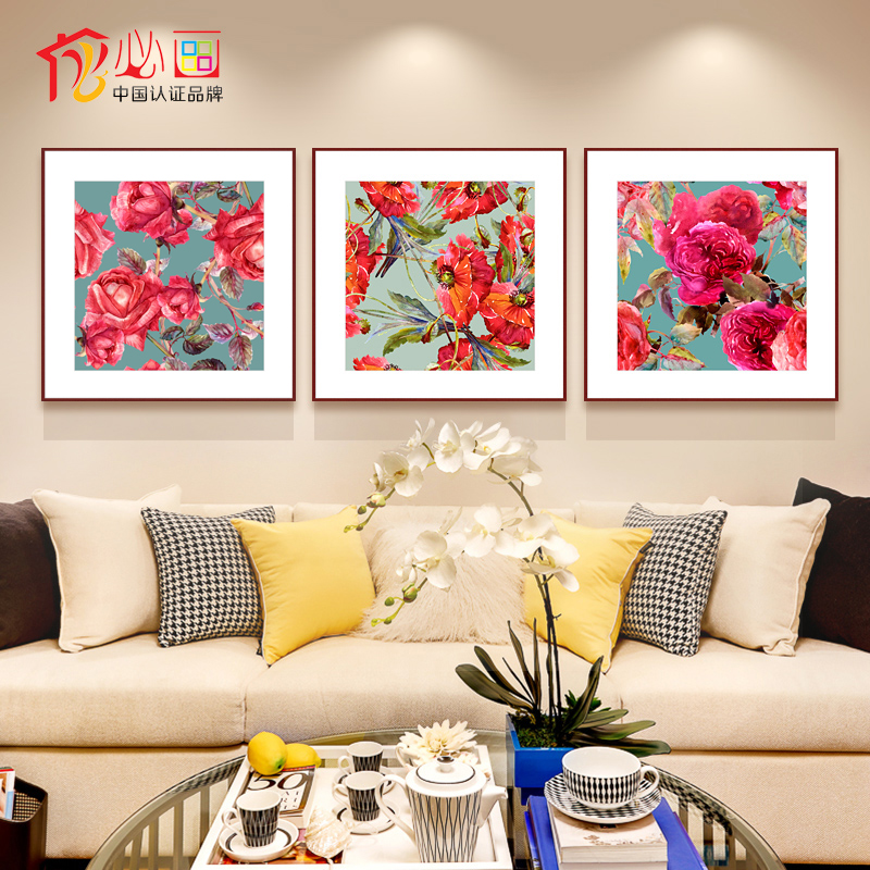 Required painting decorative painting the living room framed painting modern minimalist bedroom triple jane den hanging wall mural painting