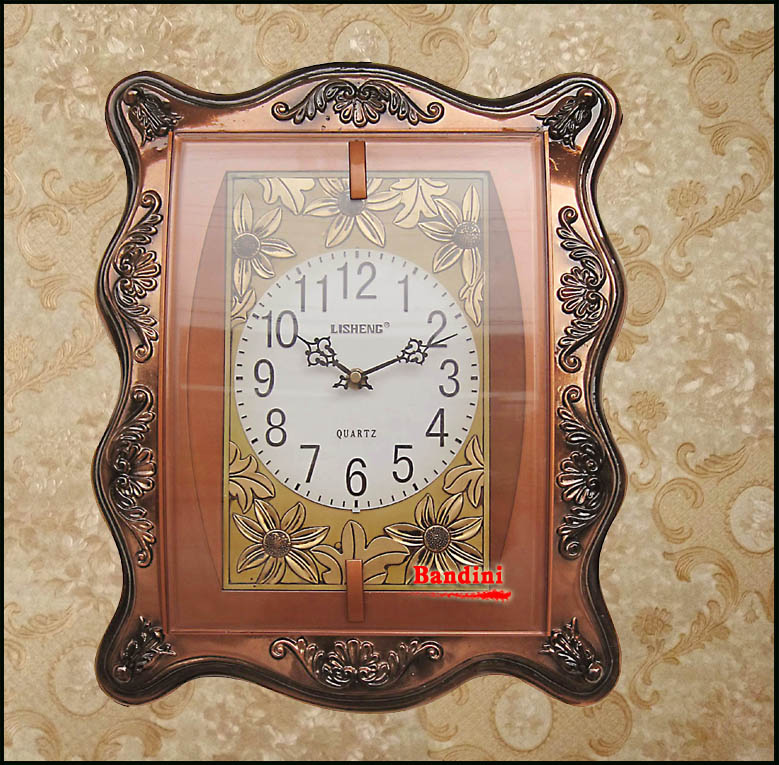 Resin carved antique wall clock european pastoral wall clock clock living room wall clock mute wall clock fashion simple wall clock