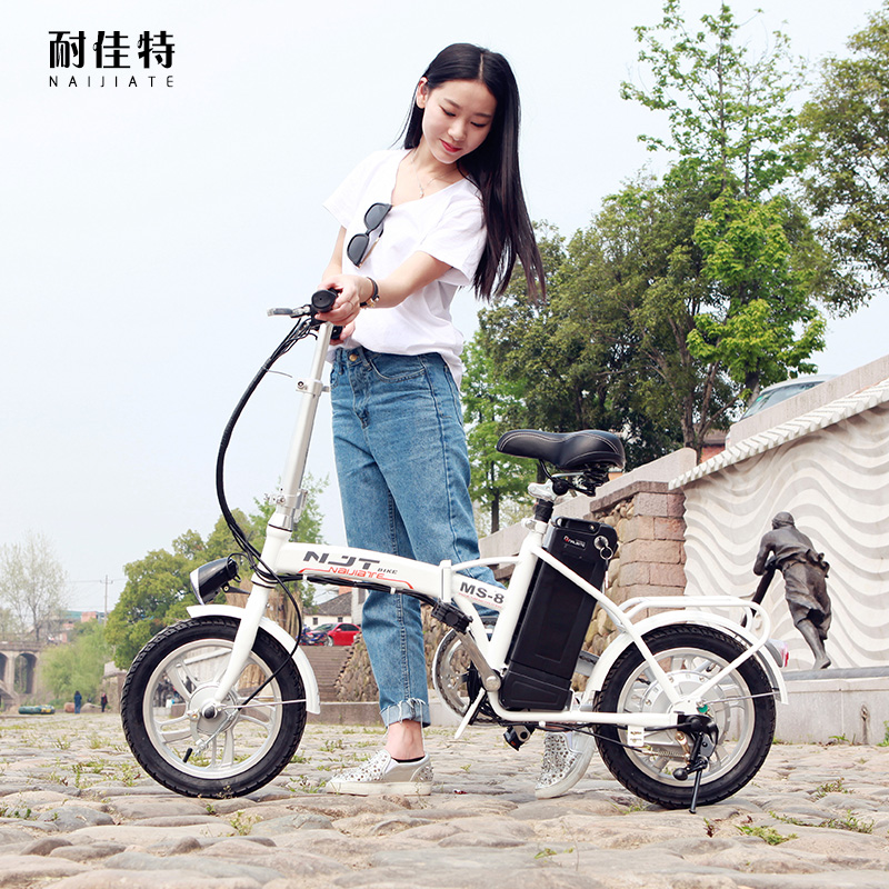 Resistance good special electric car booster scooter women mini double folding electric bike lithium battery car