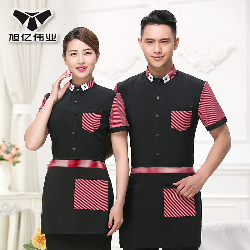 Restaurant waiter overalls summer female short sleeve sleeved overalls hotel restaurant hotel restaurant waiter sleeved