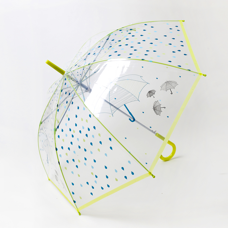 Retro astringent new south korean cute polka dot pattern long umbrella transparent umbrella transparent umbrella over the united states princess fantasy
