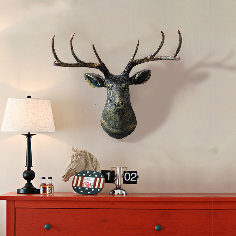 Retro bar living room wall hanging home decoration european simulation deer wall mural wall hangings wall hangings