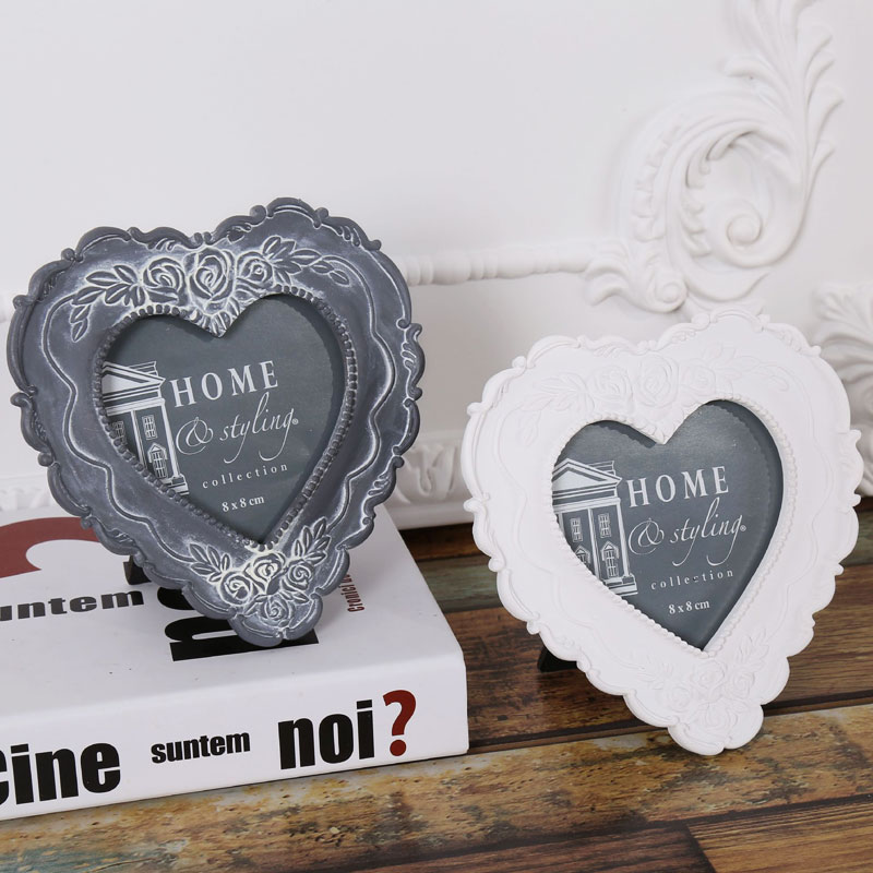 Retro carved heart european wedding wedding photo frame creative photo frame wall wood swing sets personalized ornaments