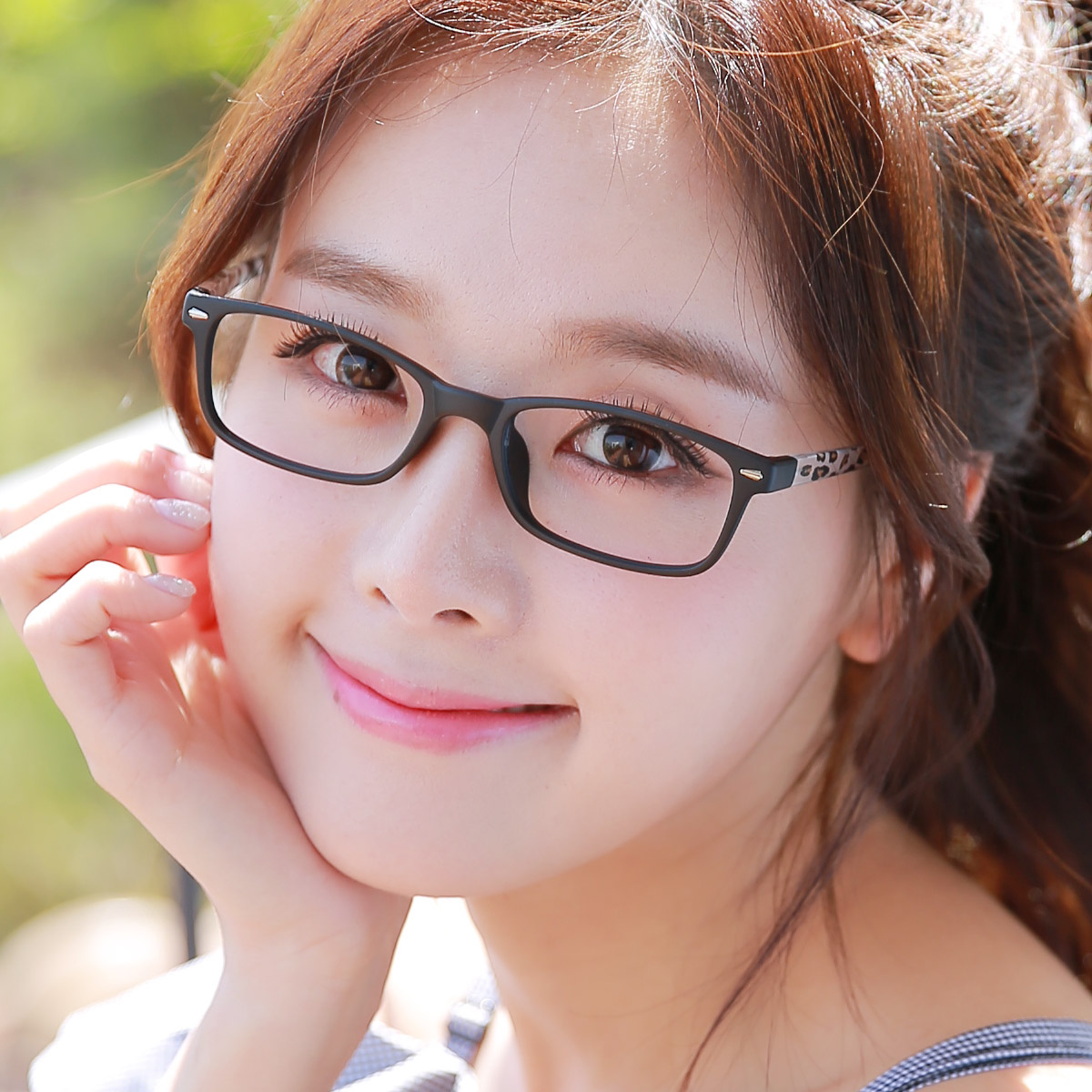 1e02cd32a2e Get Quotations · Retro glasses frame female ultralight little face female  glasses myopia female tr90 frame glasses frame myopia