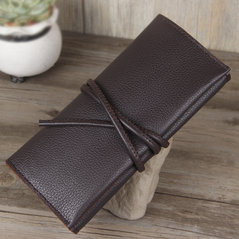 Retro handmade leather wallet first layer of crazy horsehide leather wallet handmade leather wallet long section of male personality