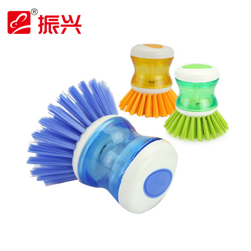 Revitalization pressure liquid xiguo kitchen cleaning brush brush brush home kitchen scrubbing pots not contaminated with oil brush convenient push