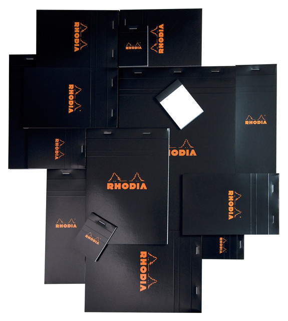 Rhodia rhodia classic checkered dash notebook ┃ turned on black cover