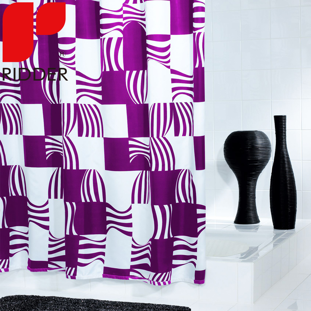 Ridder european bathroom toiletries waterproof shower curtain mildew thick polyester shower curtain curtain curtain 42370