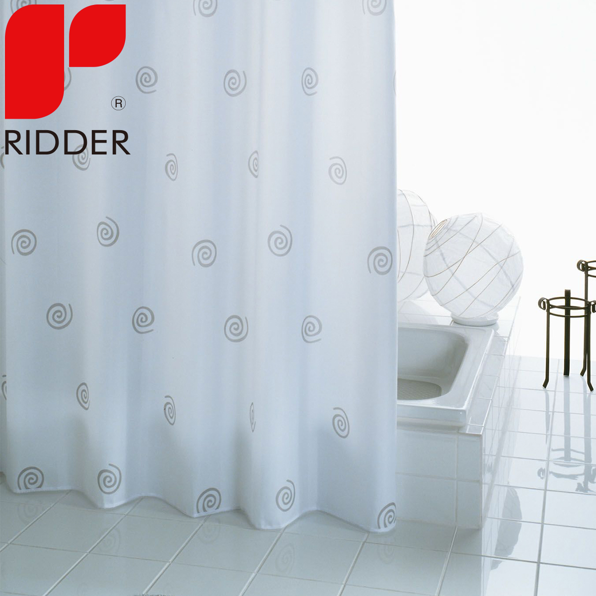 Ridder european imports of plain polyester waterproof shower curtain mildew bathroom shower curtain shower curtain partition 41327