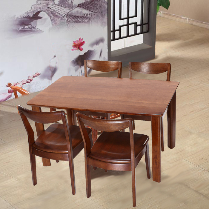 Rifa dalian bright furniture genuine export quality oak wood dining tables and chairs modern minimalist dining table