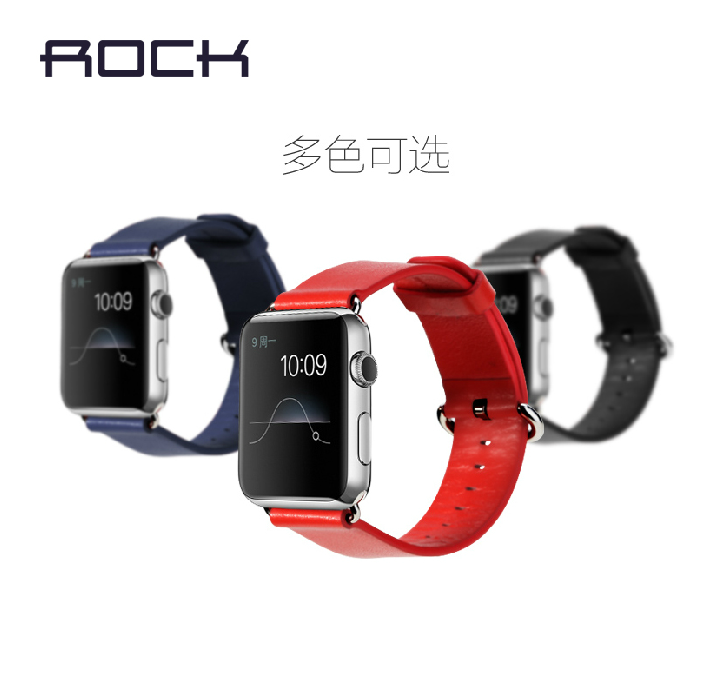 Rock apple apple i watch sport watch strap watch strap leather strap men and women tide