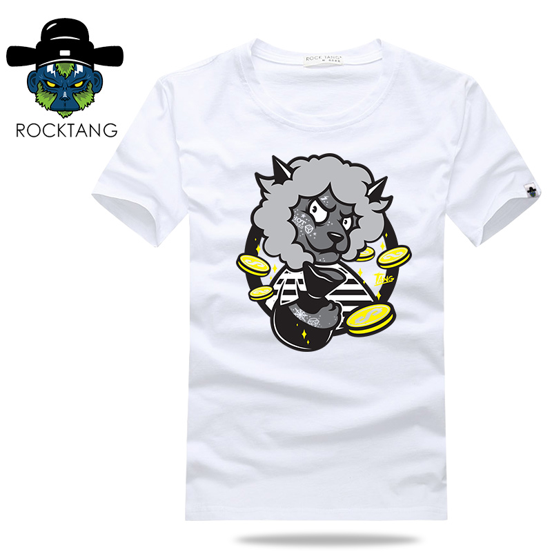 Rock tang 2016 new cartoon version not sheep zodiac personality short sleeve t-shirt cotton short sleeve men's twelve