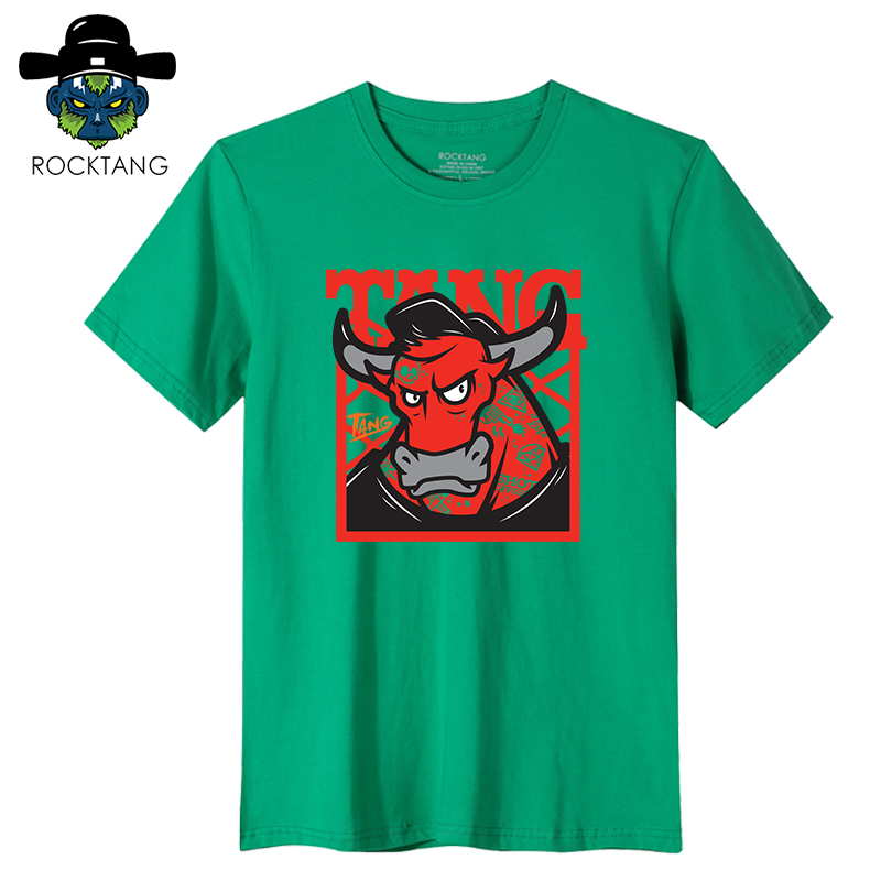 Rock tang/2016 new cotton short sleeve t-shirt twelve ugly cow zodiac cartoon bottoming shirt sleeve