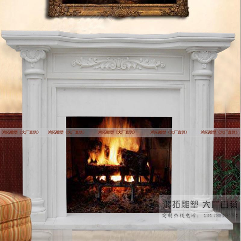 Roman custom fireplace decorative fireplace marble fireplace fireplace marble fireplace villa CX-031