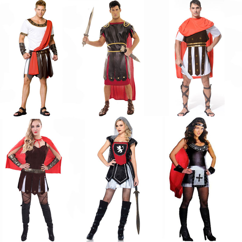 Roman warrior costume warrior generals sparda ares warrior heroes clothes for men and women costumes