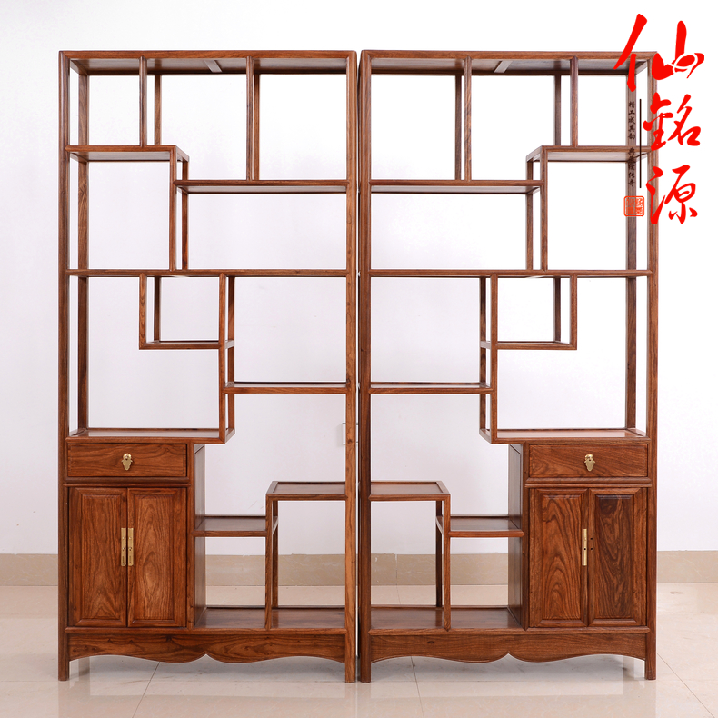 Rosewood ming and qing classical mahogany furniture african pear ming shelf antique frame antique chinese wood