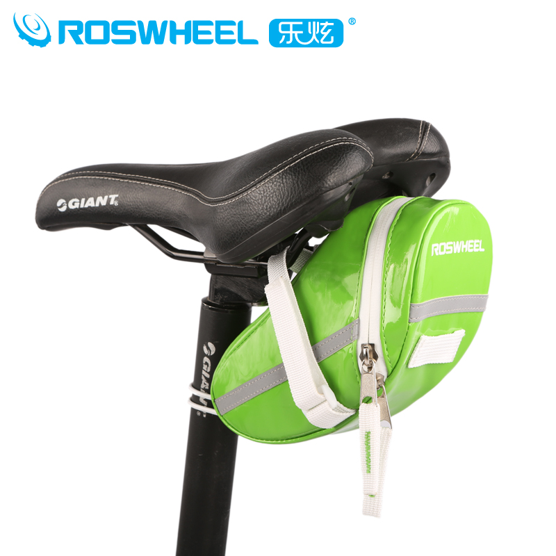 Roswheel le xuan bicycle bike mountain bike saddle bag candy bag patent leather waterproof