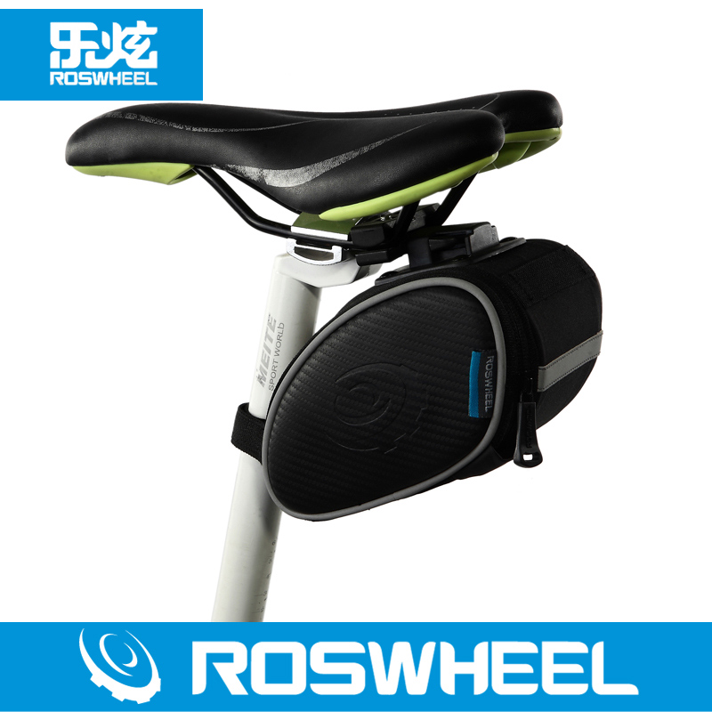 Roswheel le xuan texture series mountain bike quick release bicycle tail bag saddle bag pack 13814