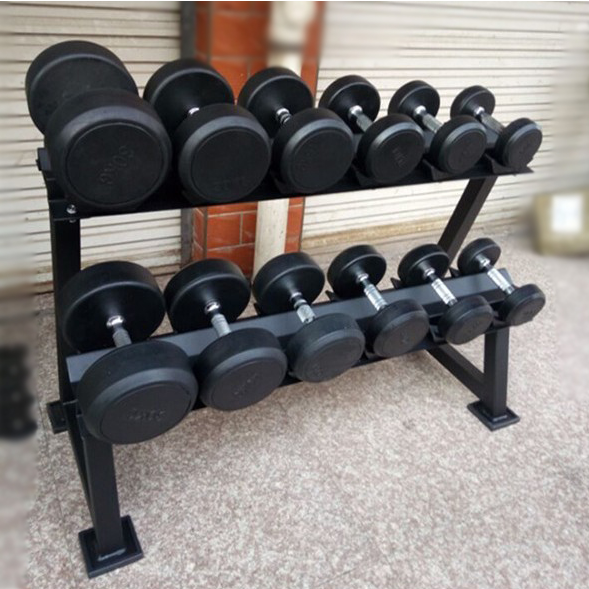 Round fixed dumbbell dumbbell dumbbell rack display rack double dumbbell rack dumbbell suit home fitness equipment