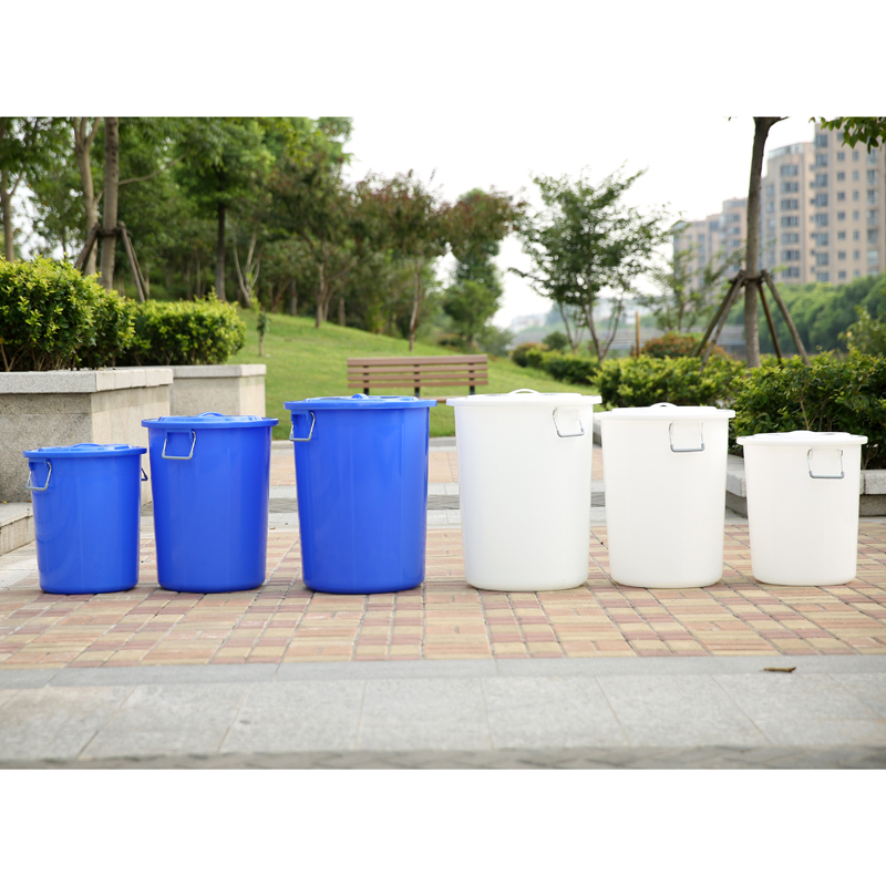 Round plastic bucket with lid trash bins large thick plastic storage bucket with a lid bucket barrel food barrel