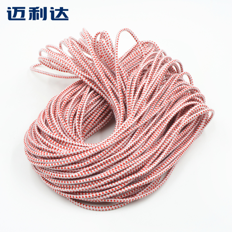 Round red and white elastic band elastic rubber band fashioned traditional rope elastic rope rubber band accessories