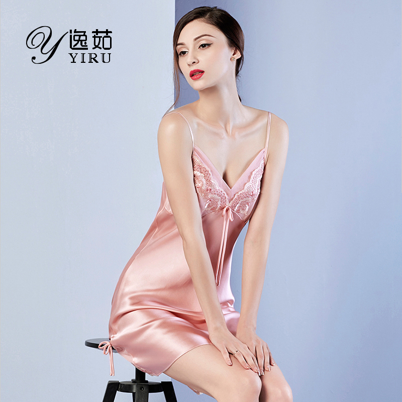 80877f8095 Get Quotations · Ru yi 2016 new silk pajamas female summer silk pajamas  silk nightgown sexy temptation halter
