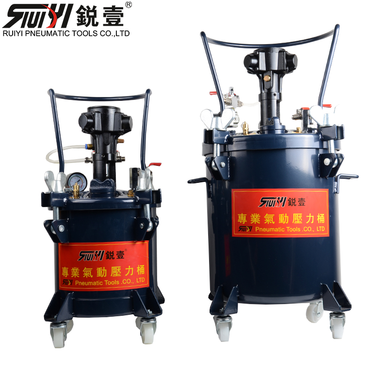 Rui yi 10/20/40/60 liter manual/automatic mixing paint pressure tank pressurized spray paint stir sauce pot