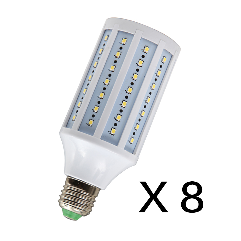 Rui ying led video light bulb corn light bulb e27/5600K video recording lamp lights photography light bulb 8 installed