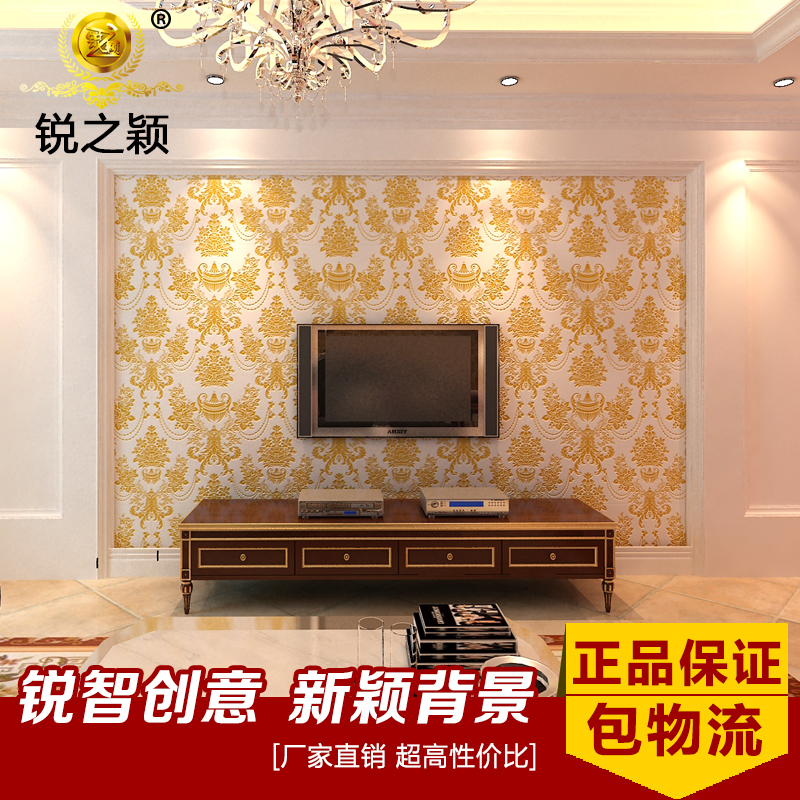Rui ying's european tile backdrop living room tv backdrop tile tile wall painting custom 3d european pattern