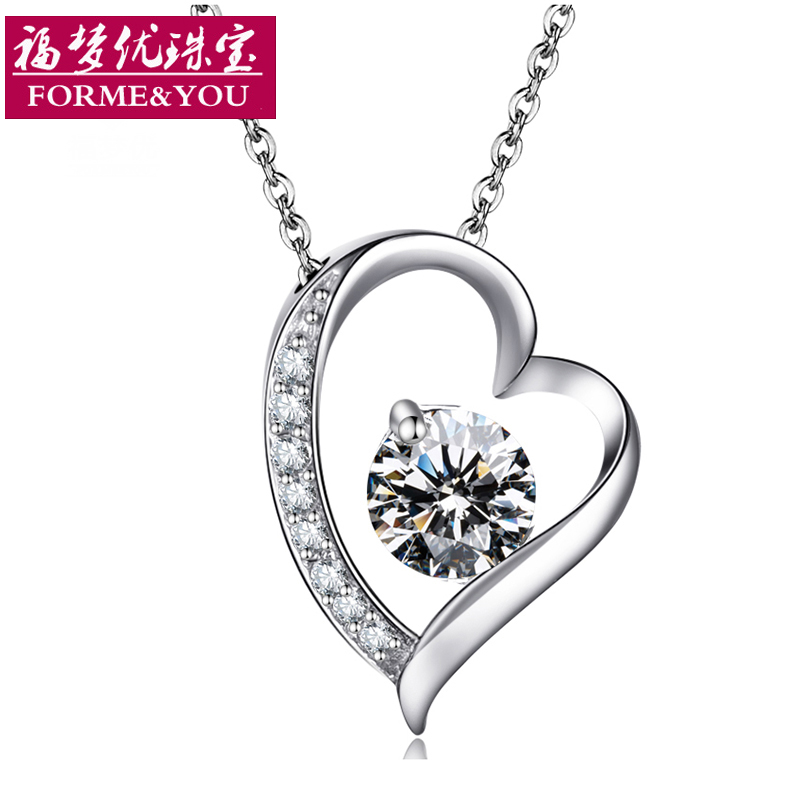 S925 silver amethyst pendant necklace female short paragraph clavicle chain korean version of sweet birthday valentines day gifts